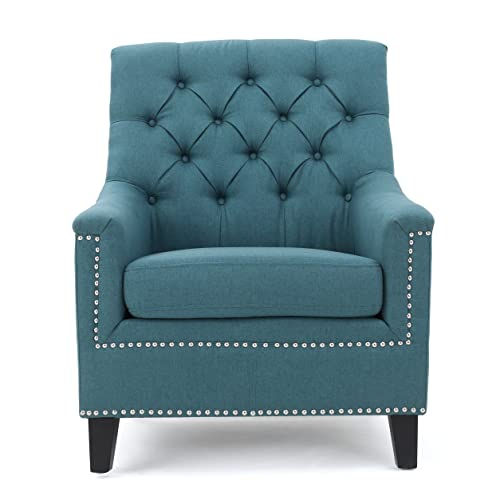Christopher Knight Home 300041 Jaclyn Arm Chair, Dark Teal