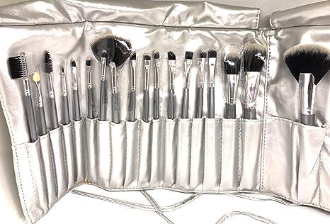 111b8d505 Set Profesional de Brochas para Maquillaje 18 piezas  (Negro,Dorado,Morado,Plata y Rosa) (Plata): Amazon.com.mx: Salud, Belleza y  Cuidado Personal