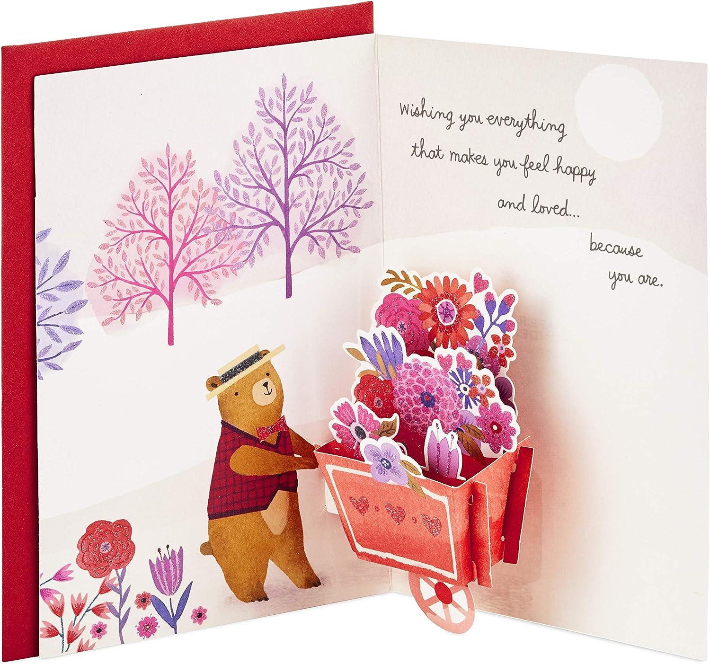 Hot Air Balloon Valentine Hallmark Paper Wonder Valentines Day Pop Up Card for Significant Other
