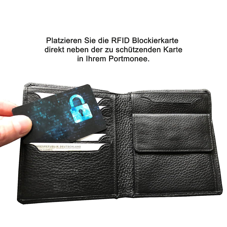 2 Protección Blocker/tarjetas de crédito RFID (.) - Original Security Card - Protege contra robo mediante señales RFID/NFC. Safety First.