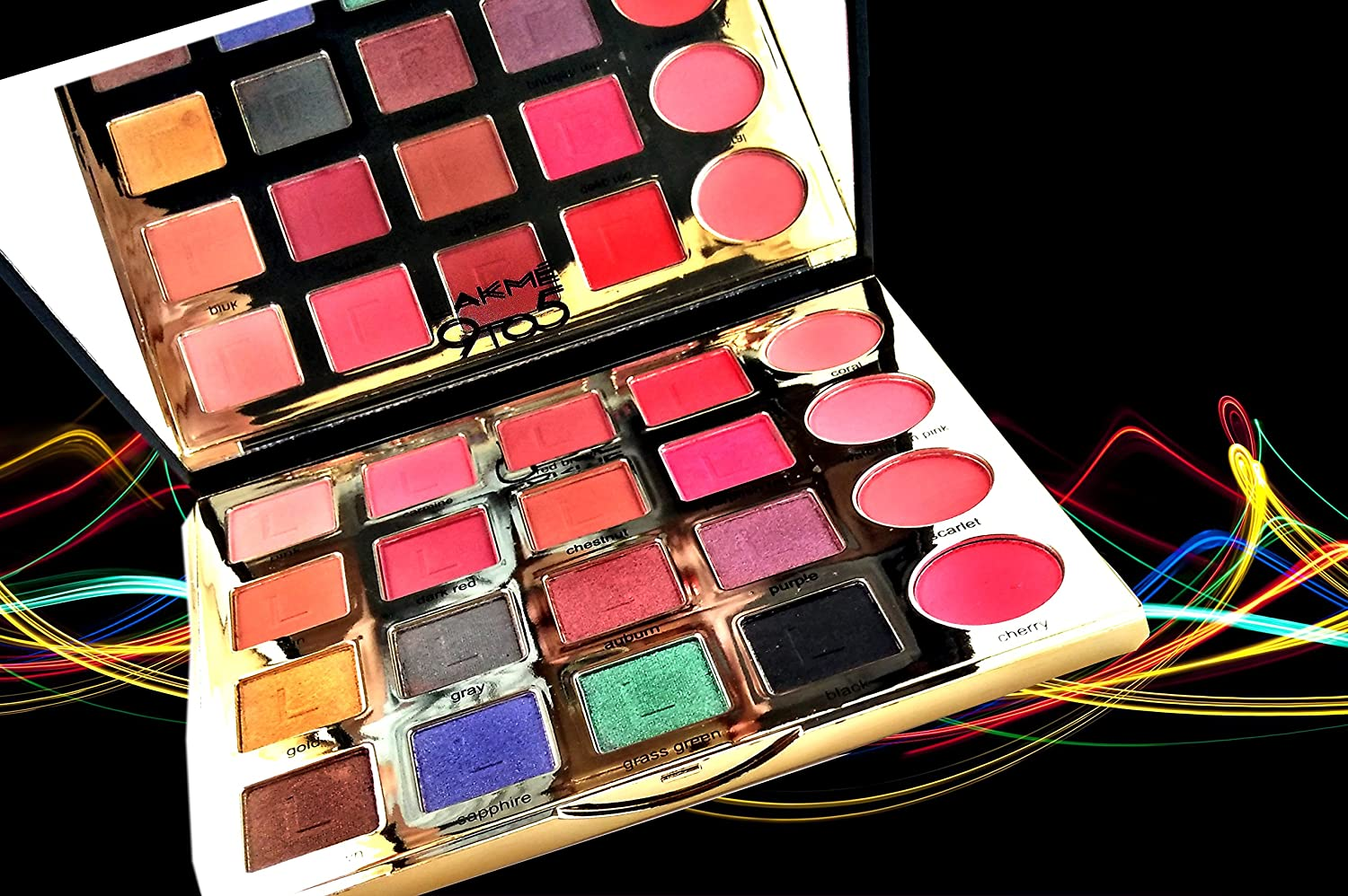 Amazon.com : Lakme dazzling, makeup kit with eyeshadows with real essential oil : Beauty