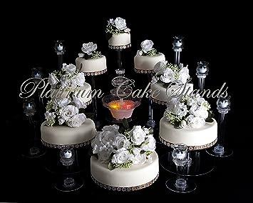 Amazon.com: PLATINUMCAKESTAND 8 Tier Cascade Wedding Cake Stand with ...