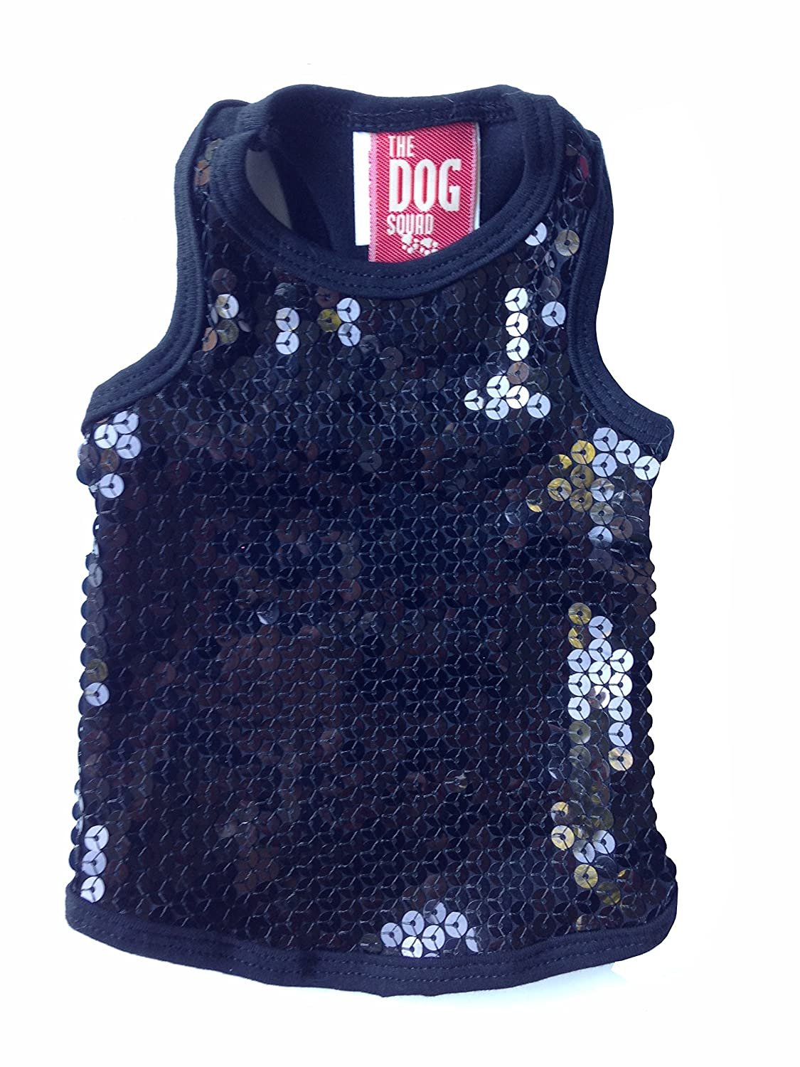 The Dog Squad On The Rocks Tank Top for Dogs, Medium, Black