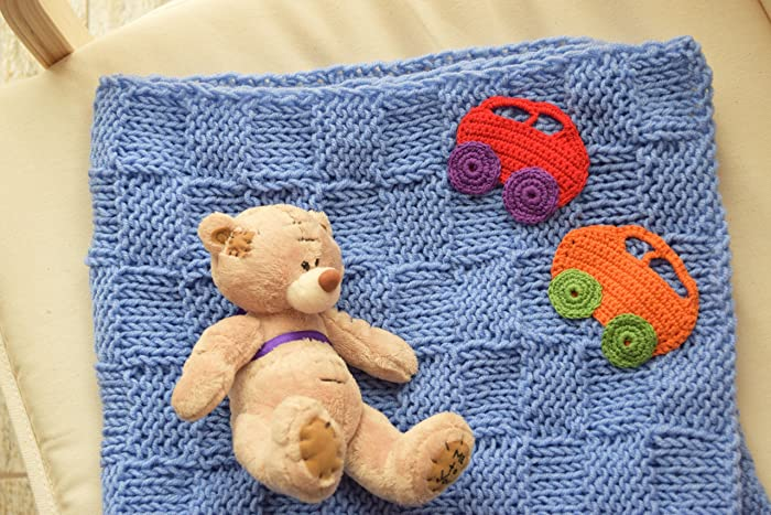 Amazon Baby Blanket Kids Knit Afghan Car Appliques Baby Boy