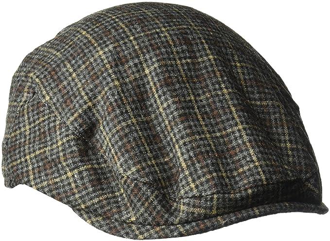 a0bc8913 Country Gentleman Men's British Classic Patterned Flat Ivy Cap, Basalt  Plaid, ...