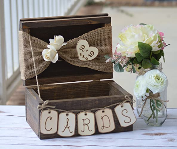 rustic card box shabby chic wedding card holder country reception decor bridal shower