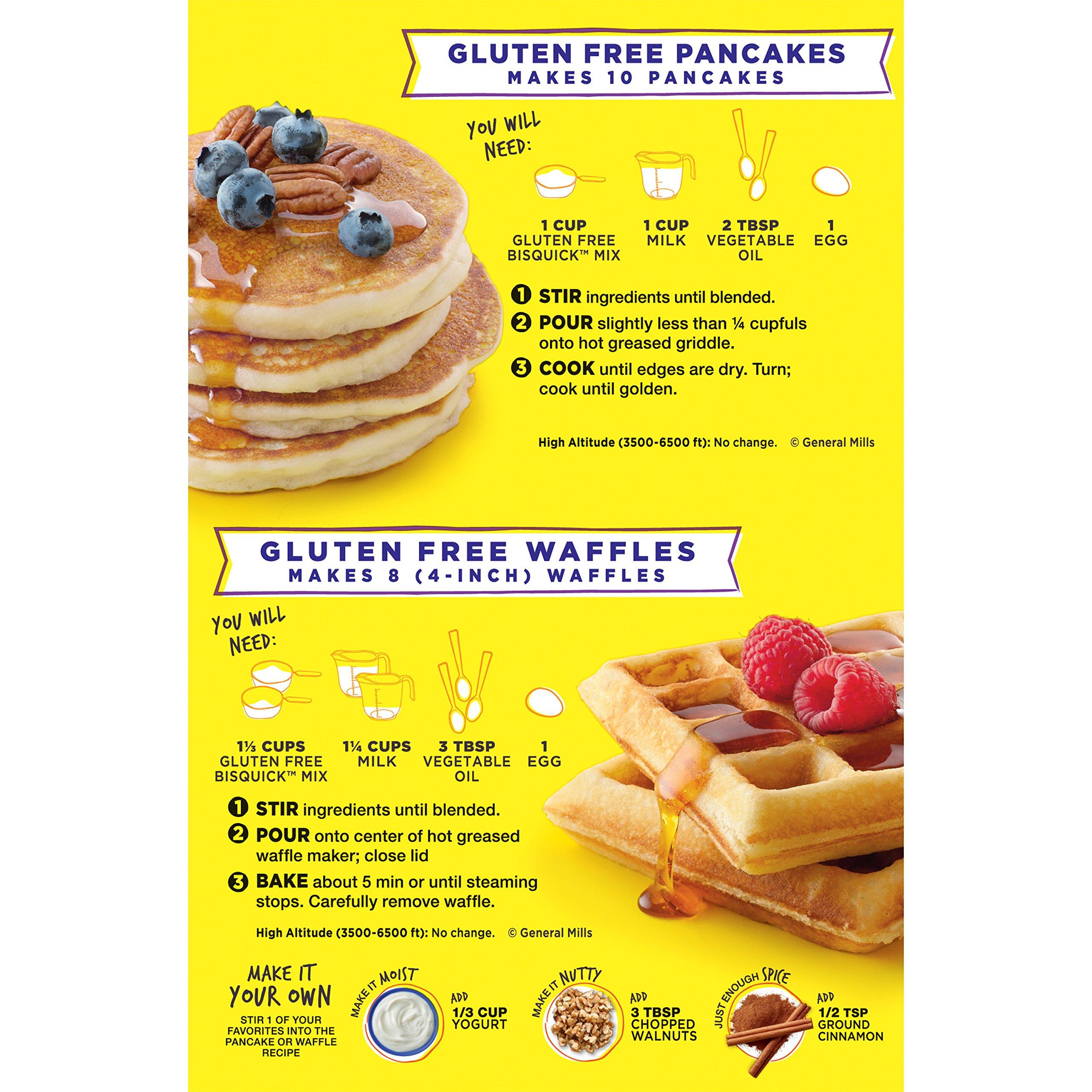 Betty Crocker Bisquick Baking Mix, Gluten Free Pancake and Waffle Mix, 16 oz Box (Pack of 6)