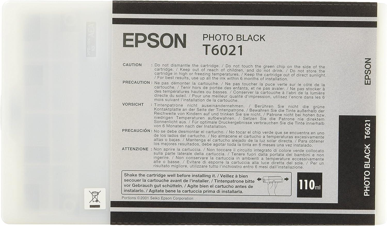 Epson T6021 Tintenpatrone Singlepack Foto Schwarz Bürobedarf Schreibwaren