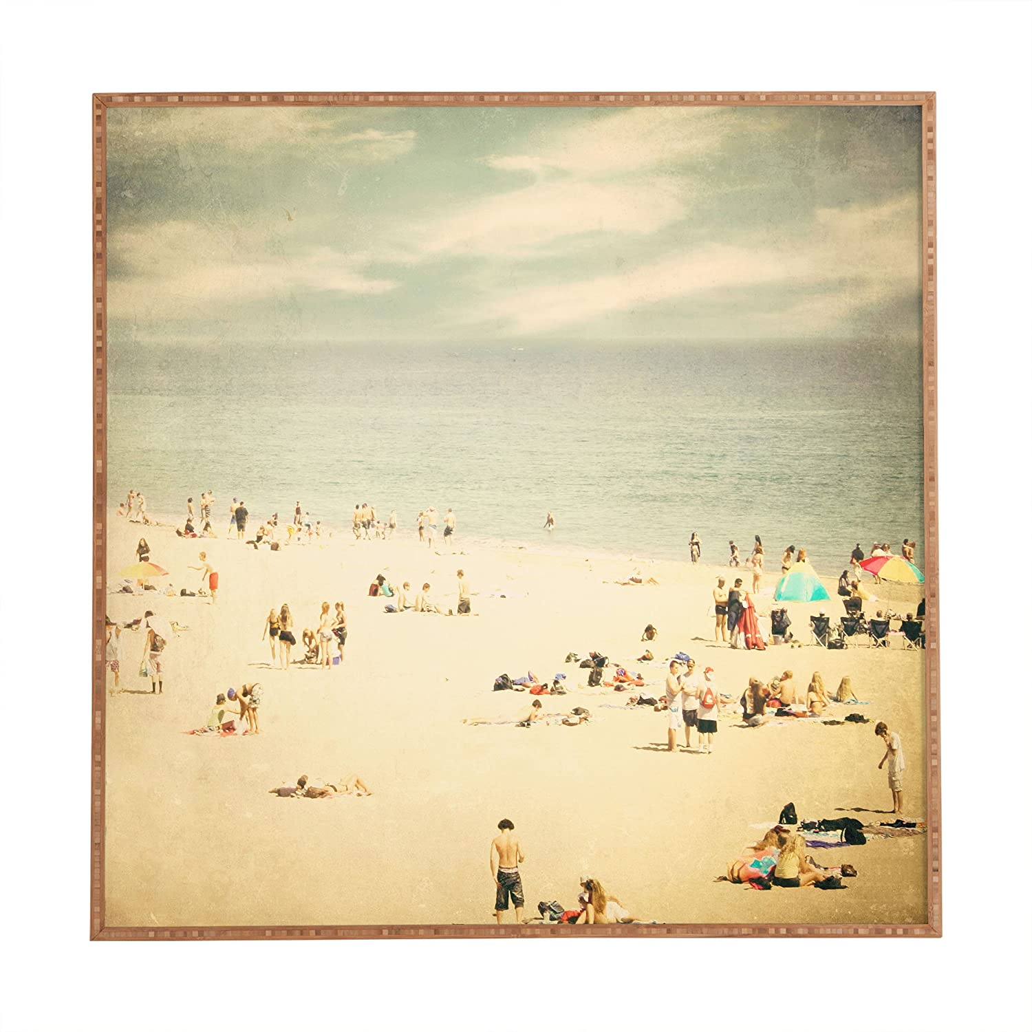 Amazon.com: Deny Designs Shannon Clark Vintage Beach Framed Wall Art, 20 x  20: Posters & Prints