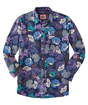 c6eb49c804f3 Joe Browns - Chemise à Fleurs à Manches Longues - Homme - Violet - S ...