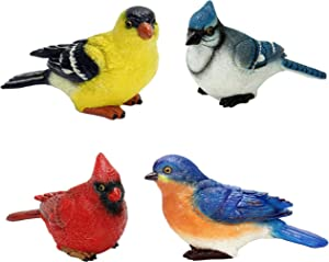 Small Birds 4 Piece Set by Michael Carr Designs - Outdoor Bird Figurines for gardens, patios and lawns (80089MIXA)