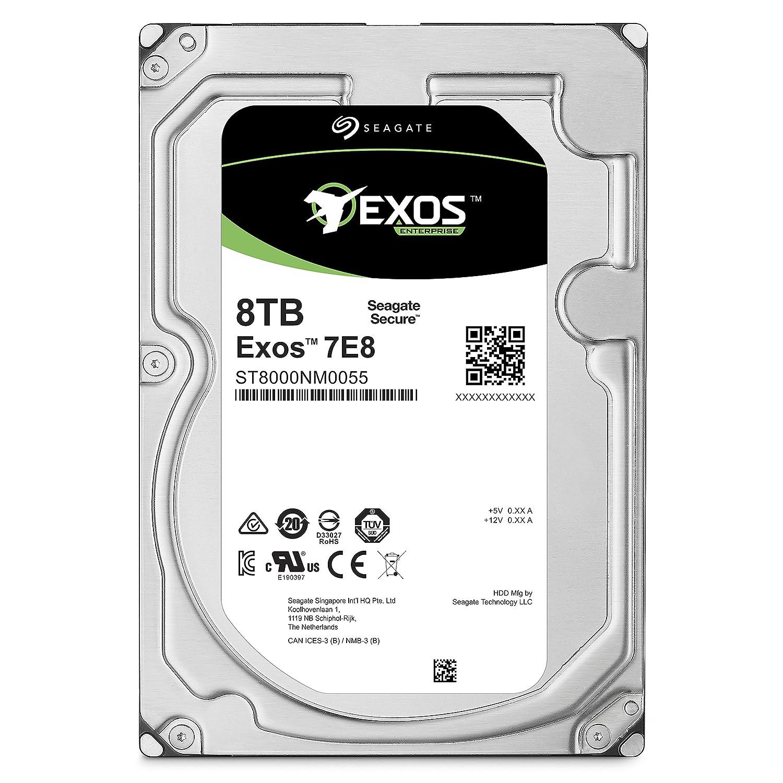 Seagate Exos 7E8 8TB 512e SATA 256MB Cache 3 5-Inch Enterprise Hard Drive  (ST8000NM0055)