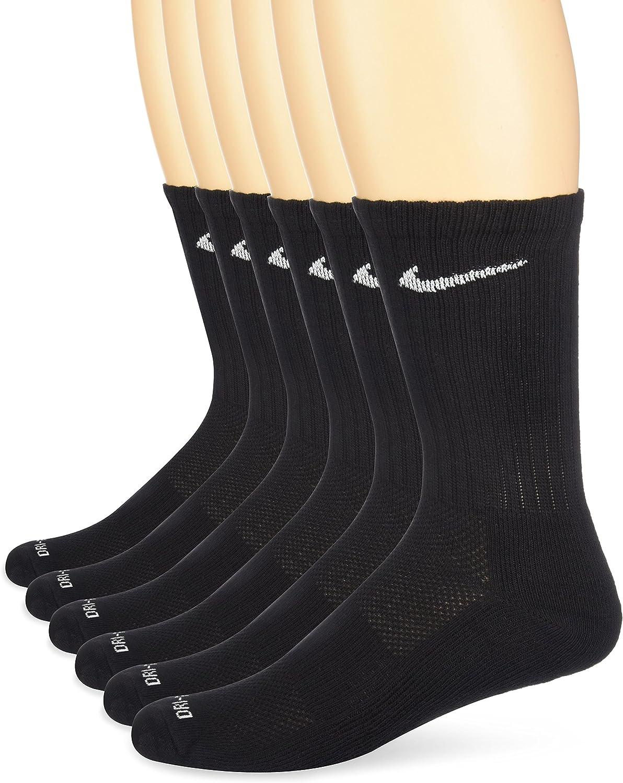 6 Pairs NIKE Unisex Dry Cushion Crew Training Socks