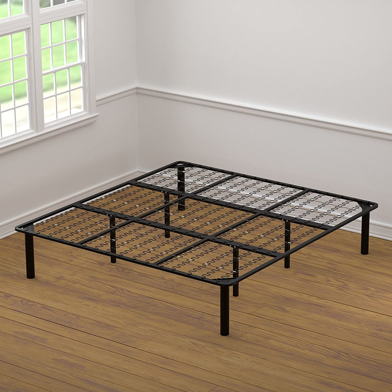 Simple Houseware 14-Inch King Size Mattress Foundation Platform Bed Frame, King