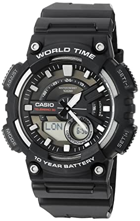 7aa419ecea1 Amazon.com  Casio Men s AEQ110W-1AV Analog and Digital Quartz Black ...