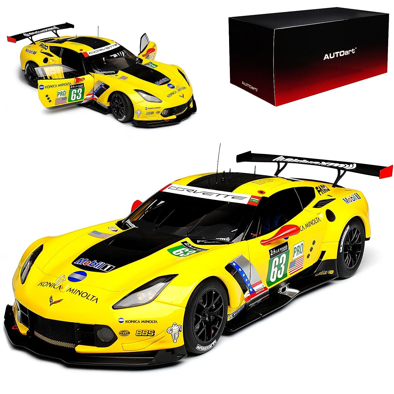 AUTOart Chevrolet Corvette C7 R Coupe 24H Le Mans 2016 Magnussen Garcia Briscoe Nr 63 81605 1 18 Modell Auto mit individiuellem Wunschkennzeichen  Mit Wunschkennzeichen