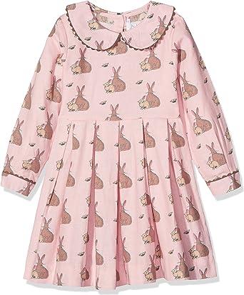 Rachel Riley Girl S Bunny Flannel Dress Pink 3 Years Amazon Co Uk Clothing