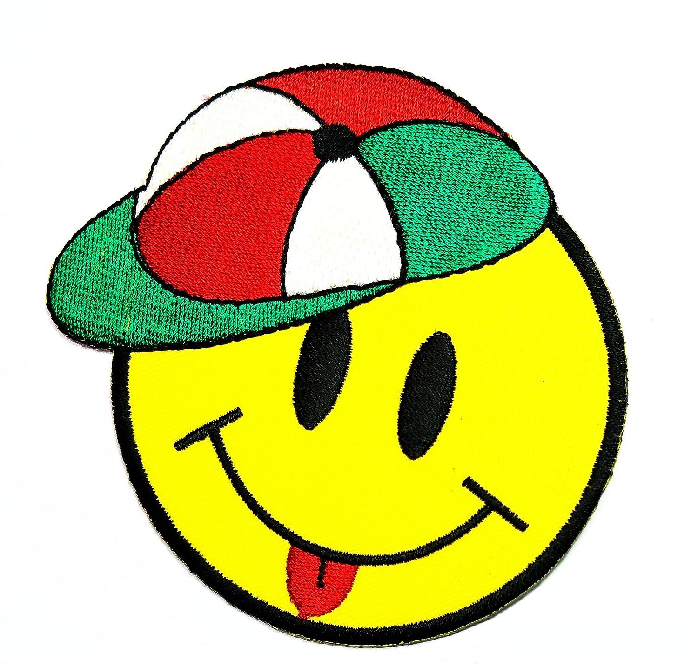 nipitshopパッチ絵文字笑顔Tongue HappyキャップCartoon Kidパッチfor ClothesバックパックTシャツジーンズスカートVestsスカーフ帽子バッグ   B07B8P8MYX