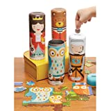 Petit Collage Tin Canister Jigsaw Floor Puzzle, Owl