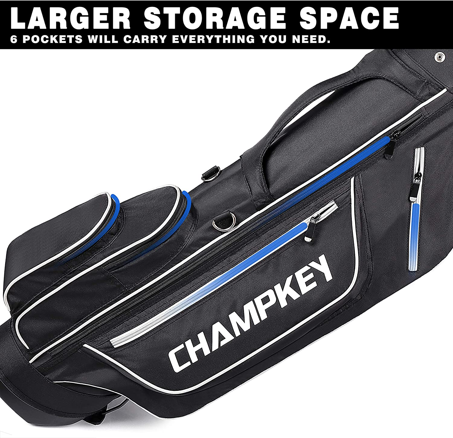 Champkey PRO Lightweight Golf Stand Bag - Easy to Carry & Durable Pitch Golf Bag – Golf Sunday Bag Ideal for Golf Course & Travel : Sports & Outdoors