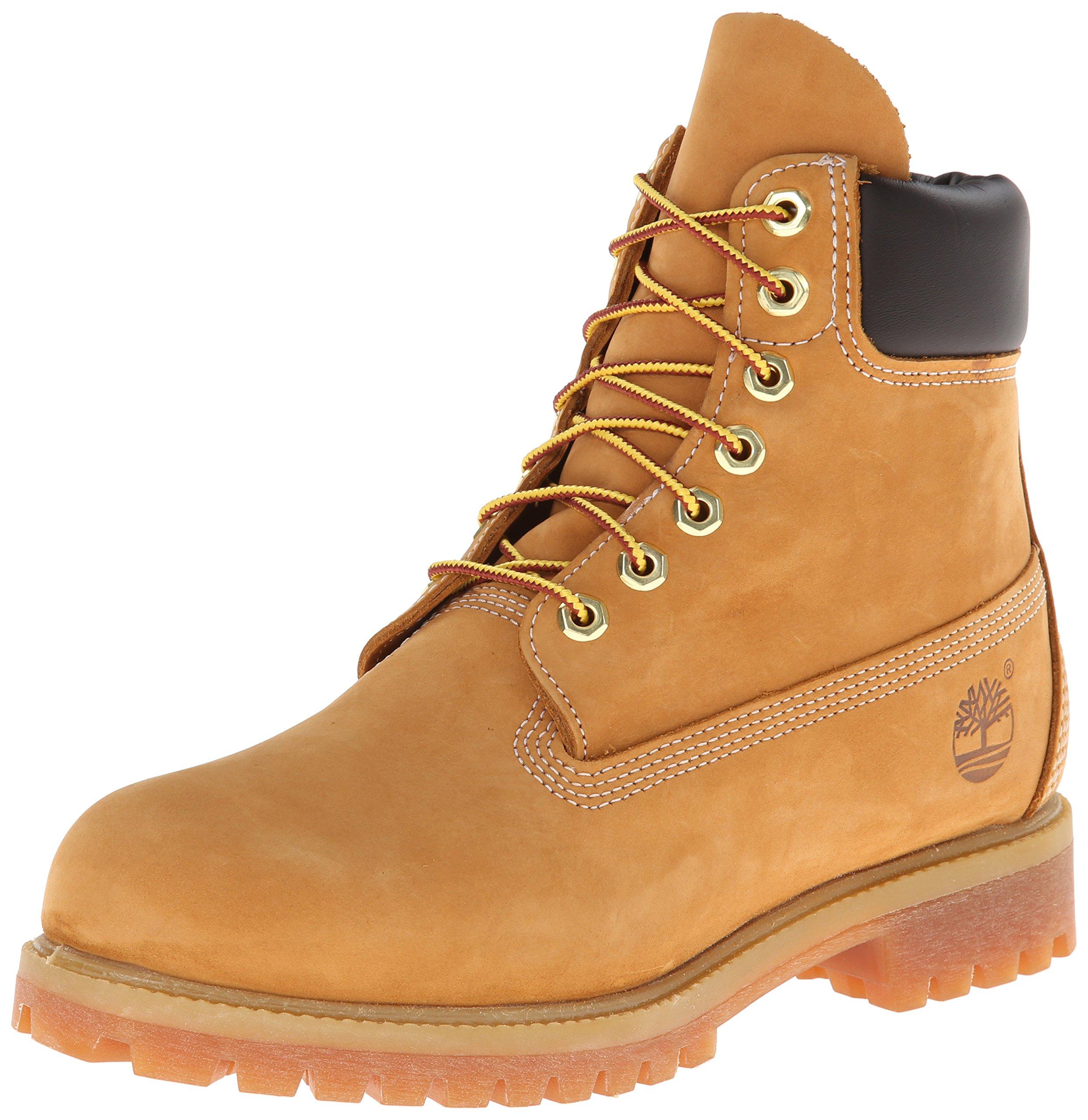 Timberland Men's 6 inch Premium Waterproof Boot,Wheat Nubuck,11 M US