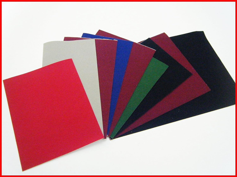 9pièces de feutrines auto-adhésives DC Fix vinyle, beaucoup de couleurs assorties A S Supplies