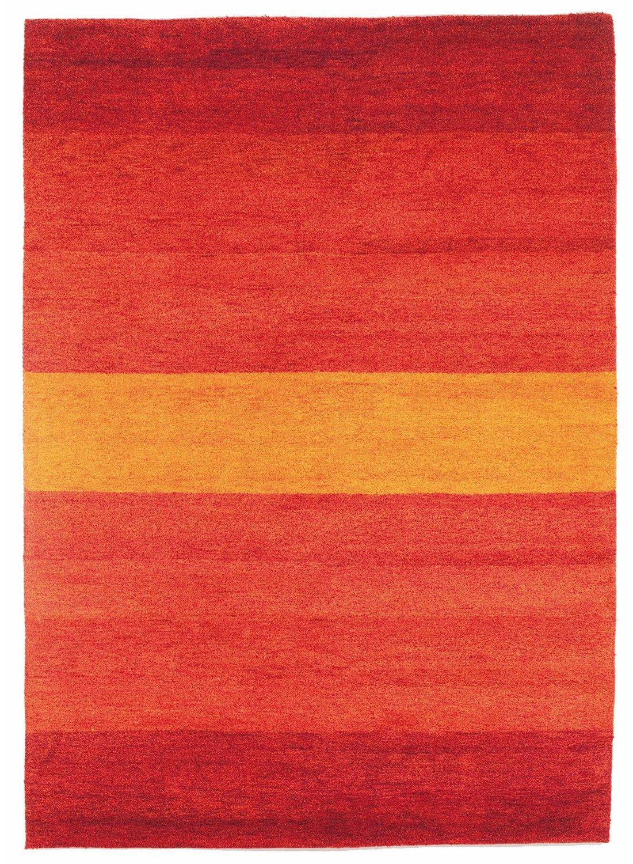 un Amour von Teppich 13836Baku Stripe Teppich Moderne wolle rot, rot, 250 x 300 cm