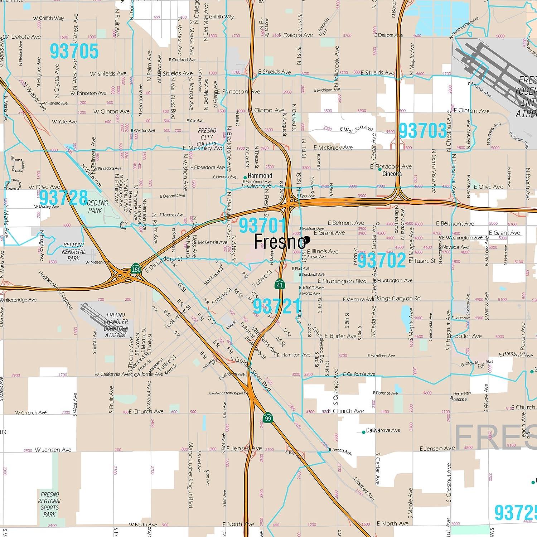 Amazon.com: MarketMAPS Fresno, CA Metro Area Wall Map - 2018 ...