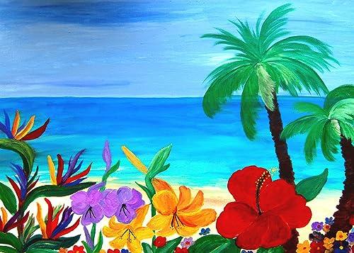 Tropical Beach 5'x7'area Rug From Art