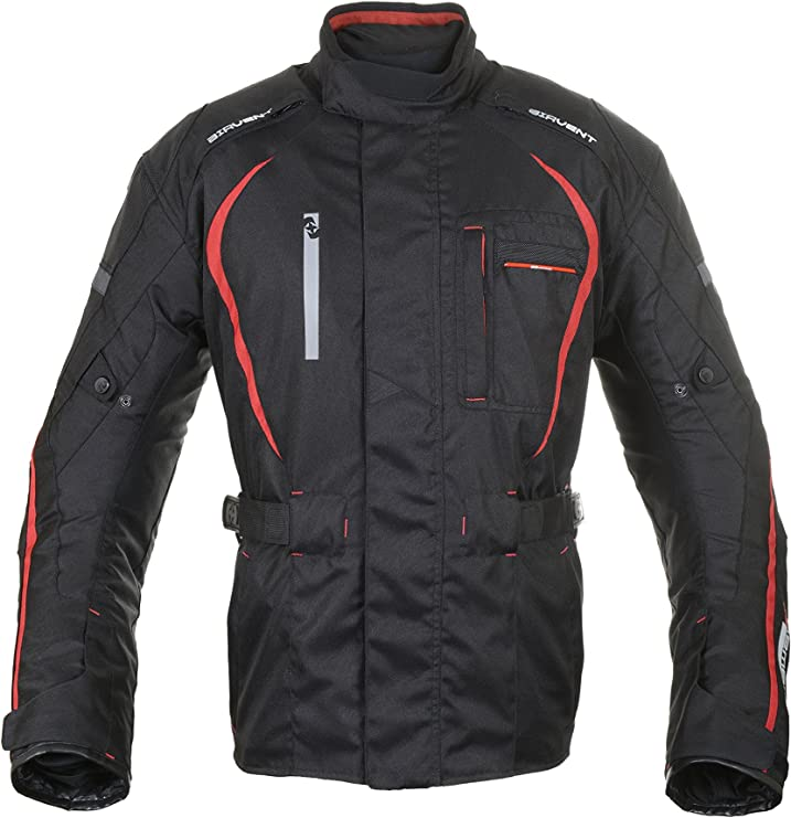Oxford Subway 2.0 Textile Waterproof Motorcycle Motorbike Jacket Black Red