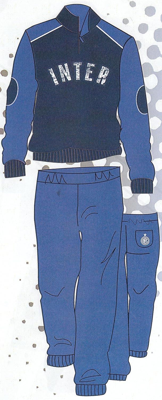 Pijama/chándal del Inter, oficial, de franela, para hombre adulto ...
