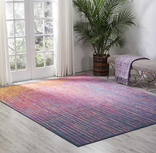 Nourison PSN09 Passion Modern Abstract Colorful Multicolor Area Rug, 8 x 10