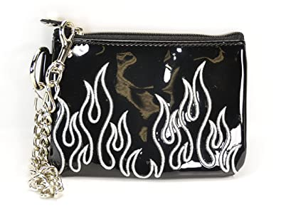 Amazon.com: Flame Bordado Patente cartera De piel Con 8 ...