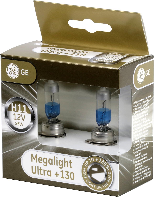 GE General Electric H7 Megalight Ultra 130/% Duobox 12V 55W Halogen Lampe