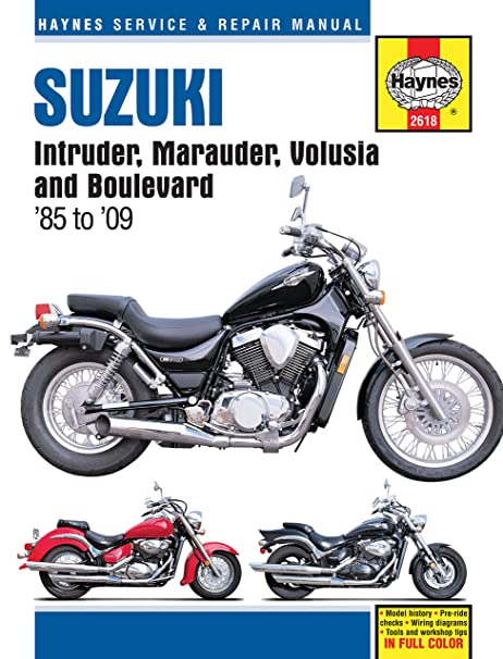 amazon com haynes motorcycle repair manual 2618 automotive rh amazon com Suzuki VL800 2009 Suzuki VL800