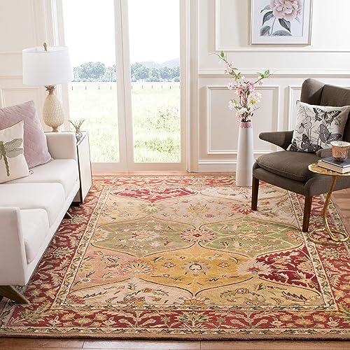 Safavieh Heritage Collection HG111A Handmade Traditional Oriental Premium Wool Area Rug