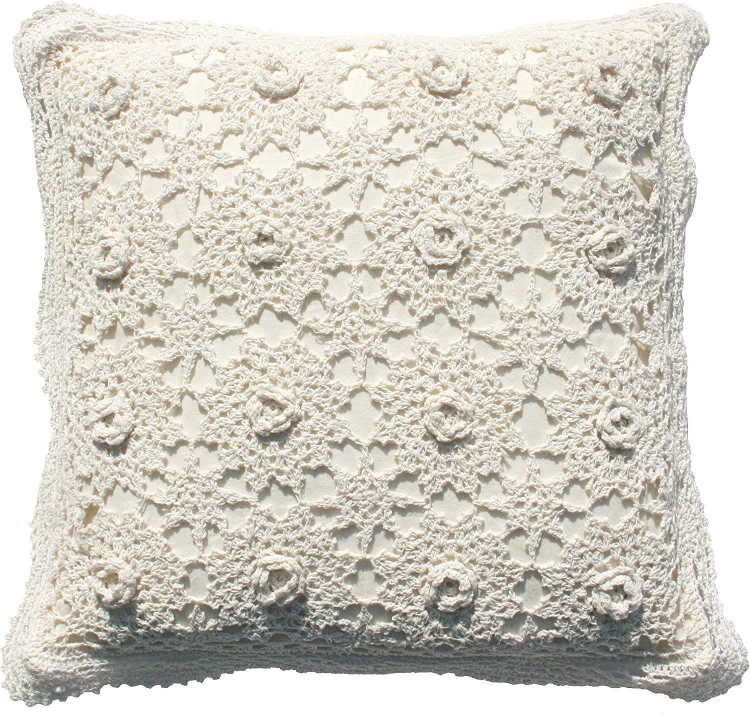 Crochet lace pillowcase 16 inches