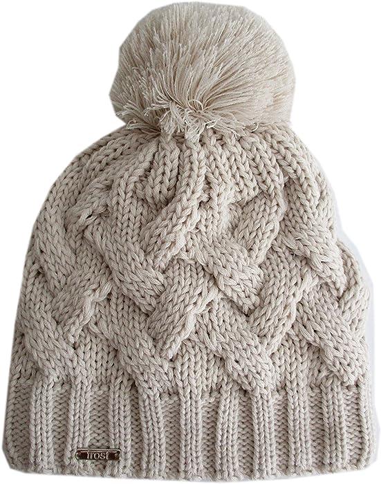 7f8cc8c9c02 Frost Hats New in 2017 Warmest Fleece Lined Cable Winter Beanie 948 (Beige)
