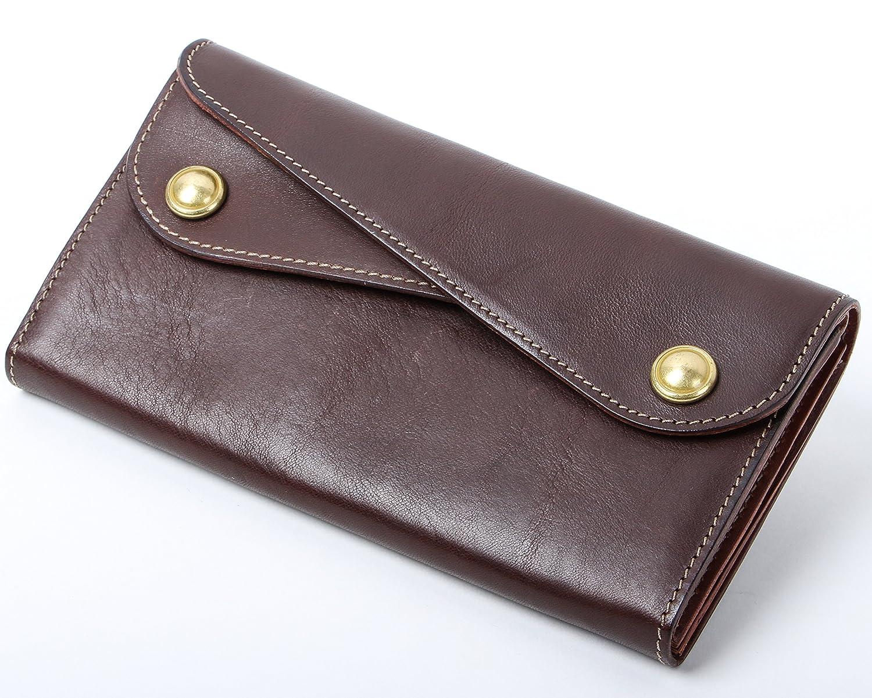 ビアベリー Dフラップ長財布 財布 BEERBELLY B074LFQHTPチョコ