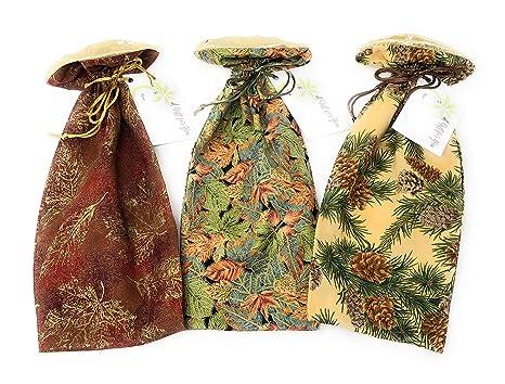 Amazon.com: Diseño de hojas de otoño – Bolsa de regalo de ...