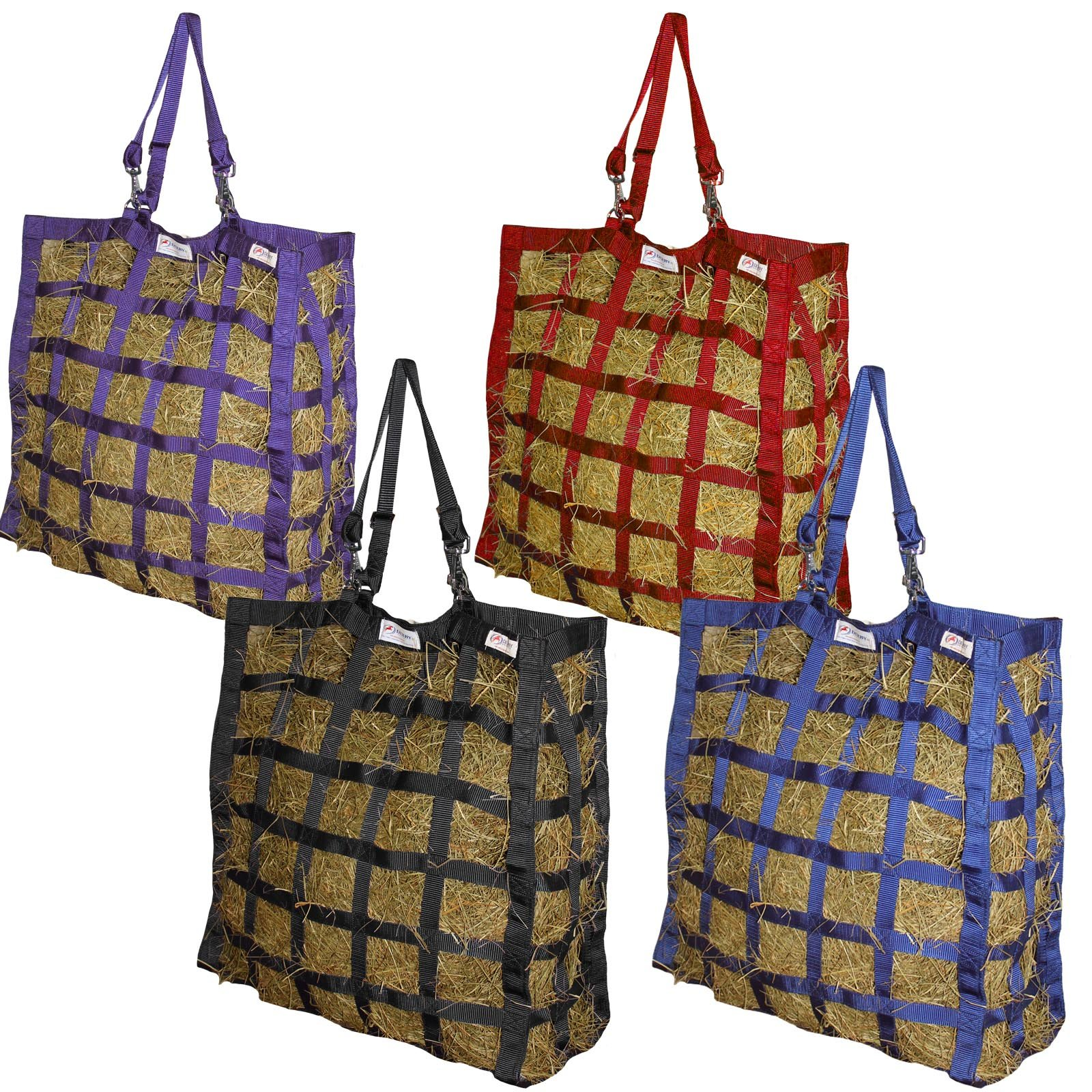 Derby Originals Patented Easy Feed Four Sided Hay Bag with One Year Limited Manufacturer Warranty