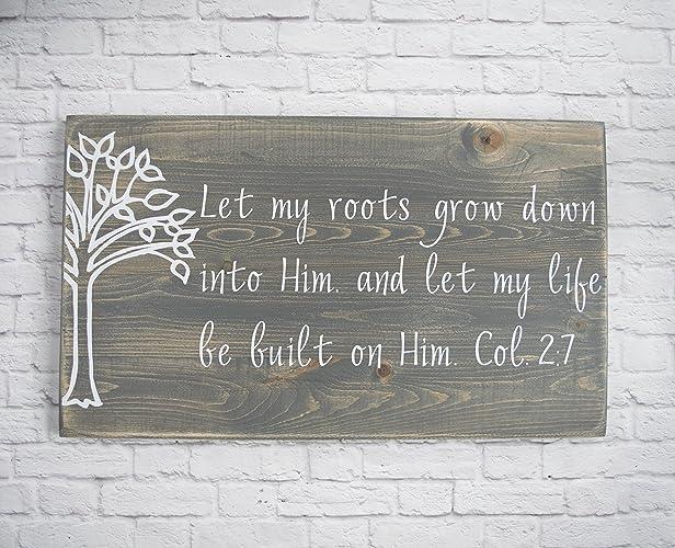 Christian Wood Sign U2013 Bible Verse Wall Art   Wood Wall Décor   Christian  Wall Plaque Part 89