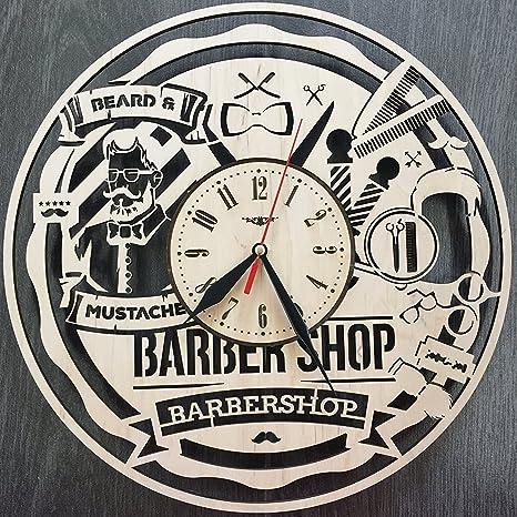Barber Shop Hombre Estilo Reloj de pared hecho de madera – perfecto y muy bien corte