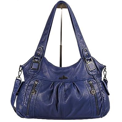 dc16f9b68ef Angelkiss women shoulder bags washed pu leather handbags massage bag fits  ipad blue jpg 395x395 Bmw