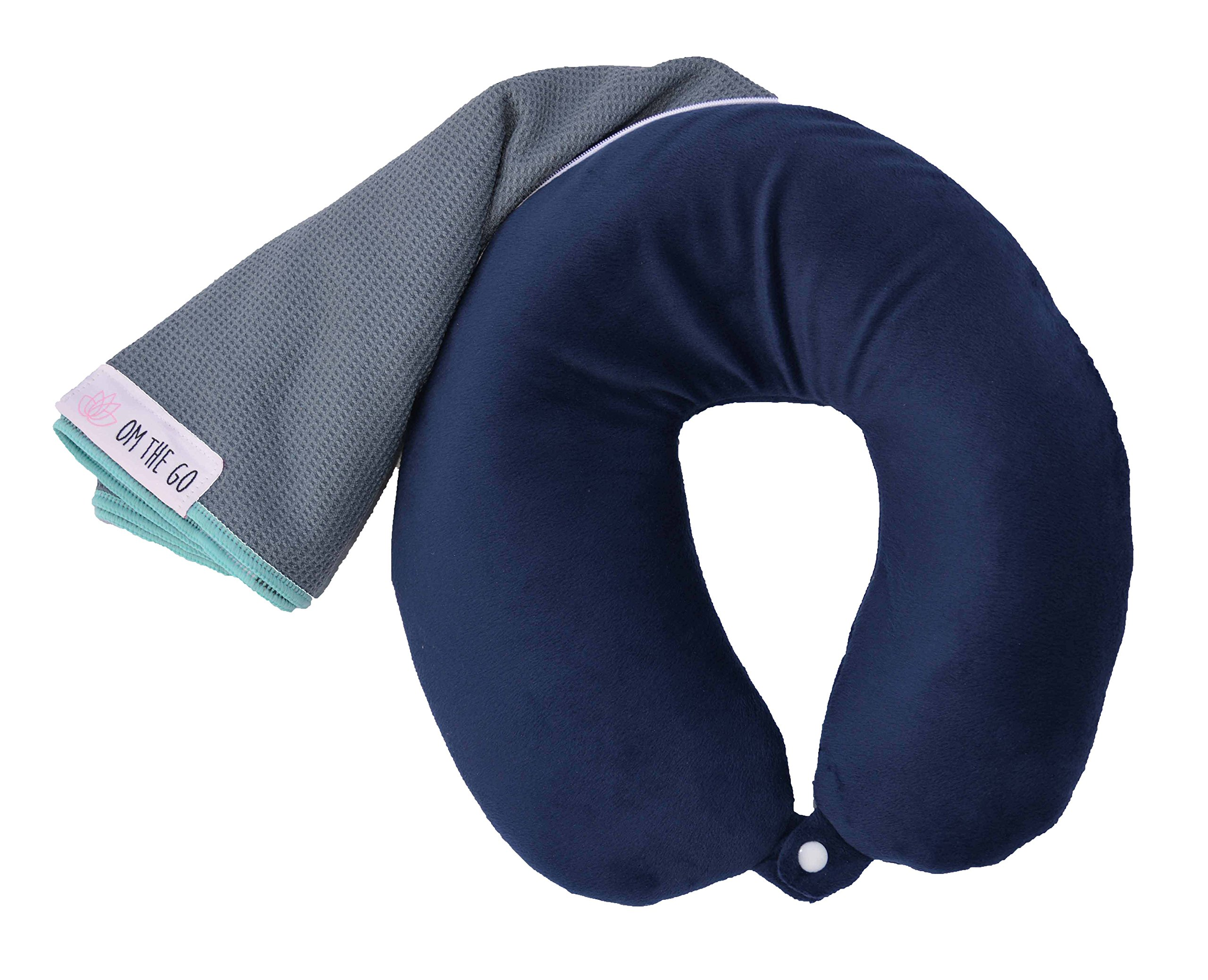 Om the Go Asana Pillow - 2-in-1 Neck Pillow and Travel Yoga Mat by Om the Go