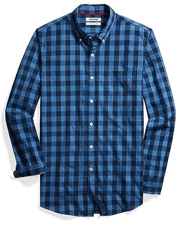 bac3b5b6b4e644 Amazon Brand - Goodthreads Men s Slim-Fit Long-Sleeve Gingham Plaid Poplin  Shirt