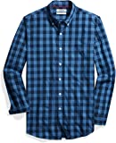 Goodthreads Mens Standard Slim-fit Long-Sleeve Heathered Large-Scale Check Shirt