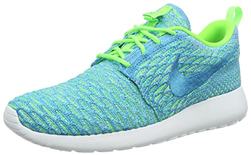 buy popular a4f11 df5f7 Nike Roshe One Flyknit, Womens Sneakers, Turquoise (Electric Greenblue  Lagoon