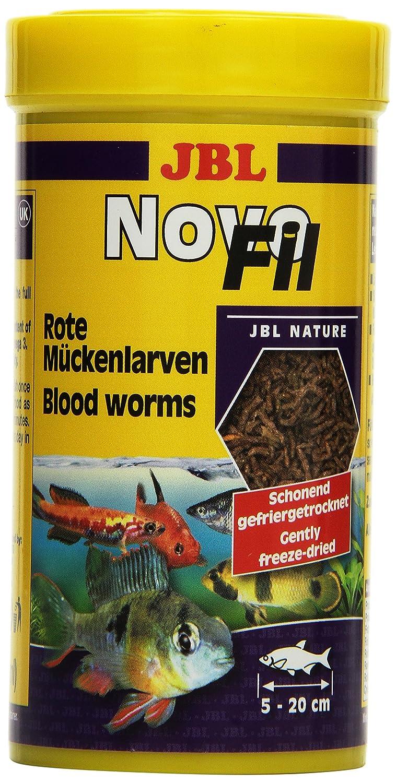 JBL Ergänzungsfutter für wählerische Aquarienfische, Rote Mückenlarven, NovoFil Rote Mückenlarven 100 ml 3026000 Fischfutter