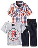 U.S. Polo Assn. Baby Boys' Sport Shirt, Creeper and